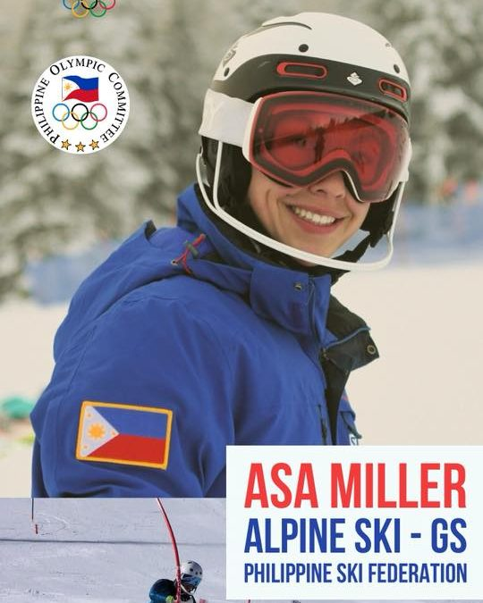 Meet Asa Miller Philippine Representative to Winter Olympics 2018